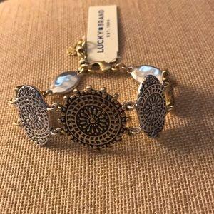 NEW medallion gold/silver link bracelet